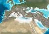 Paleogreografische kaart Middellandse Zee tijdens MSC-CR