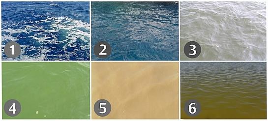 Waterkleuren - kleurenpalet oceanen, meren en zeeën