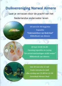 Expositie duikvereniging Narwal - Flyer