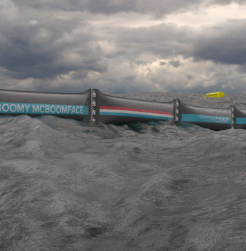 The Ocean Cleanup prototype
