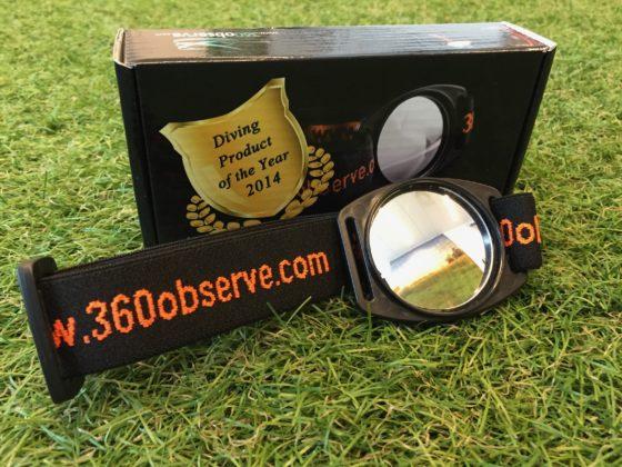 De 360Observer spiegel met verpakking