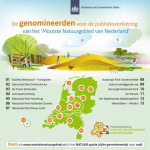 Genomineerden Mooiste Natuurgebied van Nederland