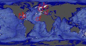 Vindplaatsen van koudwaterkoraalriffen