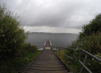 Duikplaats Kerkweg op een sombere dag