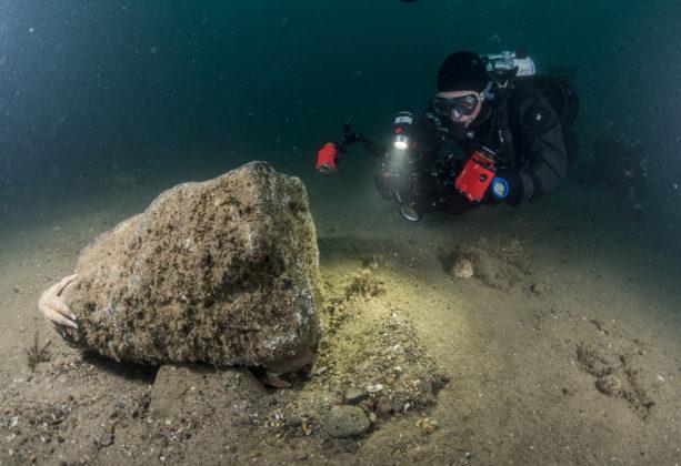 Onderwaterfotograaf op de Klaverbank - Foto: Cor Kuyvenhoven