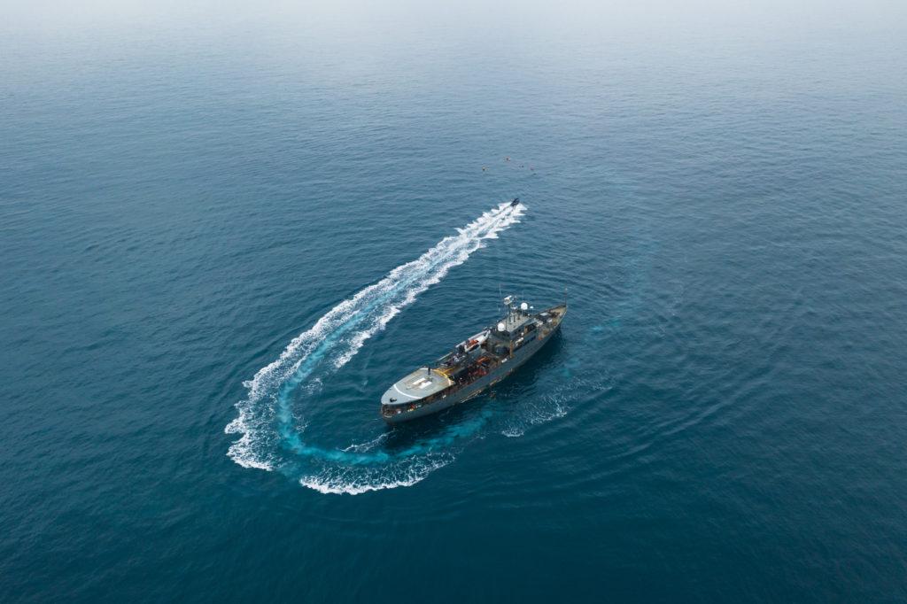 Expeditieschip Duik de Noordzee Schoon - foto: Joost van Uffelen